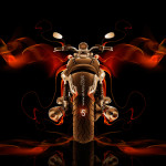 Moto Guzzi California Back Fire Abstract Bike 2014