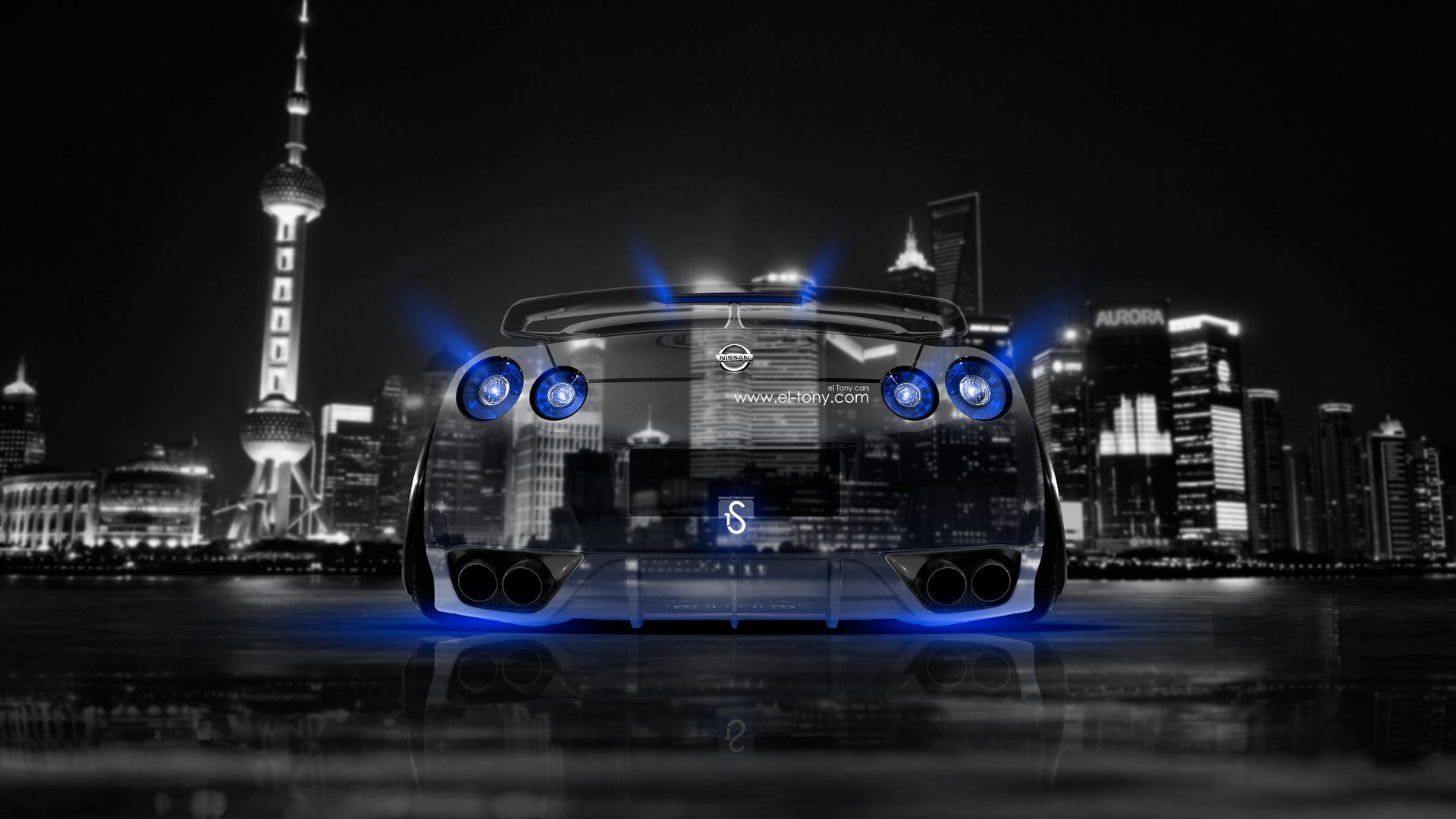 Great Nissan GTR R35 Back Crystal City Car 2014
