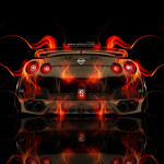 Nissan GTR R35 Back Fire Abstract Car 2014