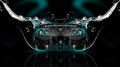 Nissan-GTR-R35-Back-Water-Car-2014-Azure-Neon-HD-Wallpapers-design-by-Tony-Kokhan-[www.el-tony.com]