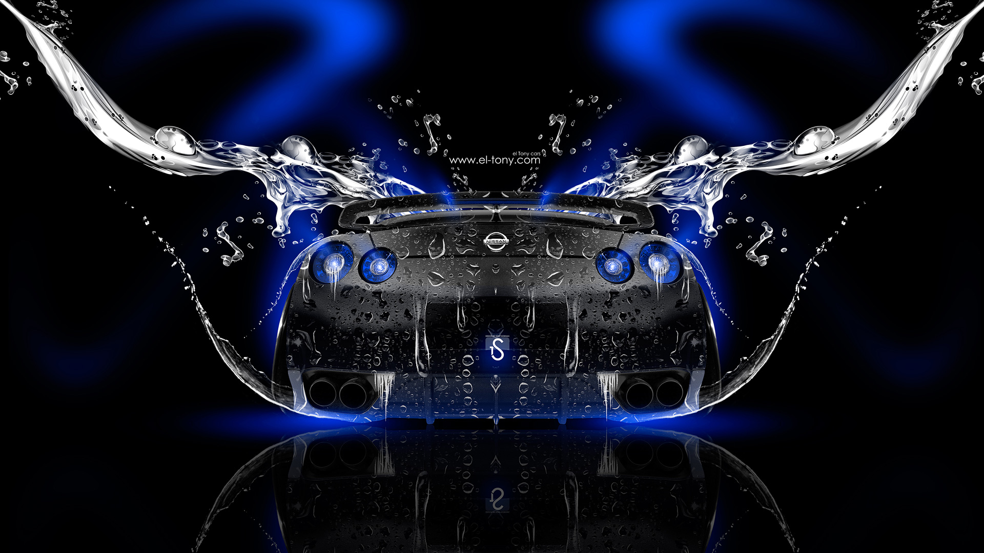 Delightful Nissan GTR R35 Back Water Car 2014 Blue