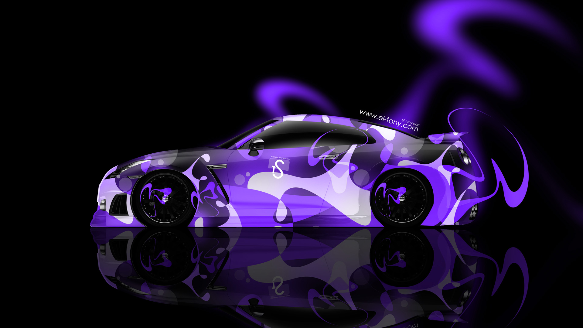 ... Nissan GTR R35 Side Abstract Car 2014 Violet