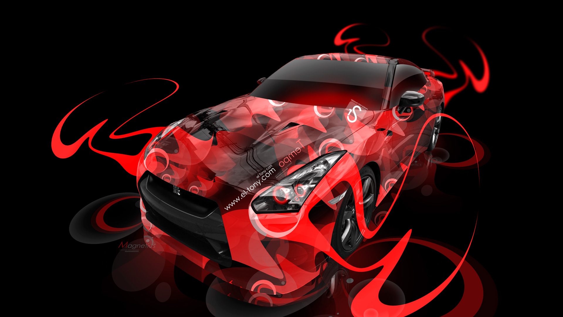 ... Nissan GTR R35 Super Abstract Car 2014 Orange  ...