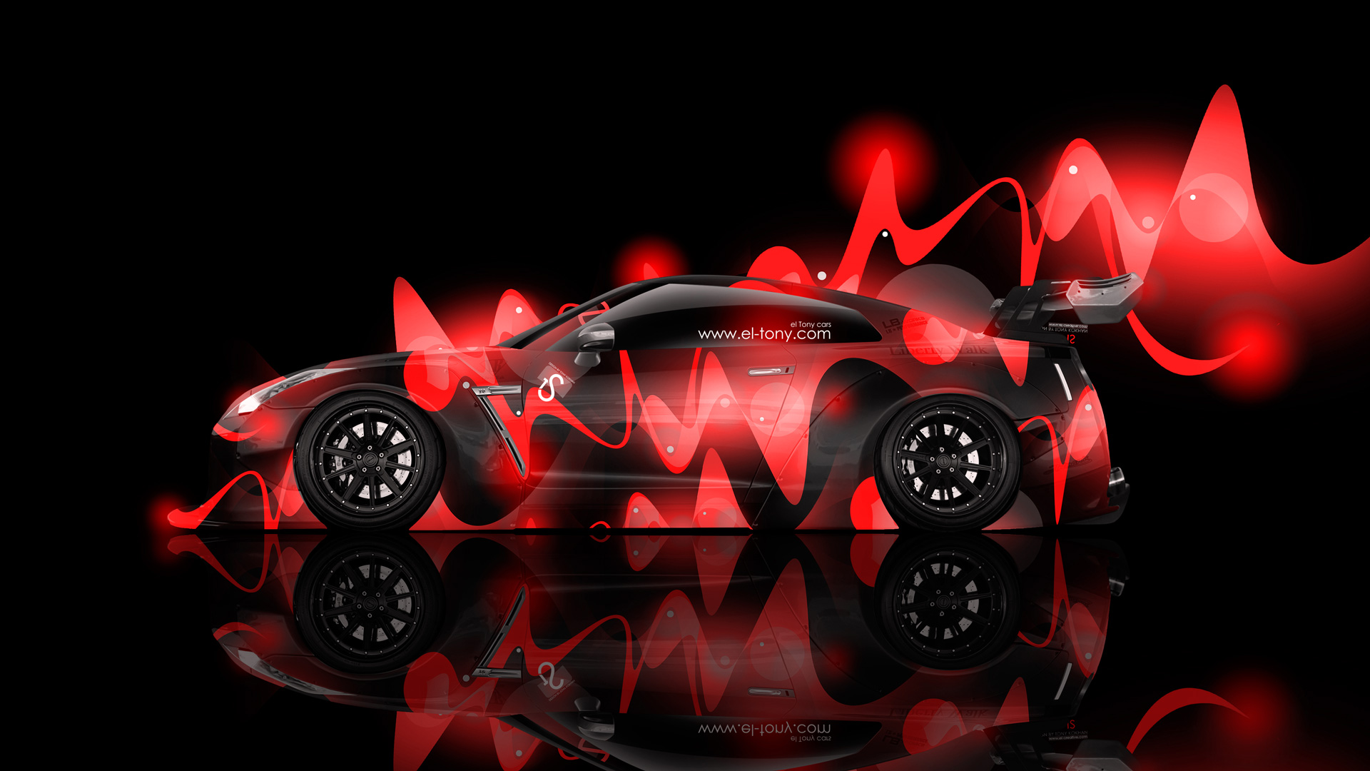 Nissan Gtr R35 Tuning Side Super Abstract Car 2014 El Tony