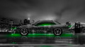 Nissan-Silvia-S13-JDM-Side-Crystal-City-Car-2014-Green-Neon-Colors-HD-Wallpapers-design-by-Tony-Kokhan-[www.el-tony.com]