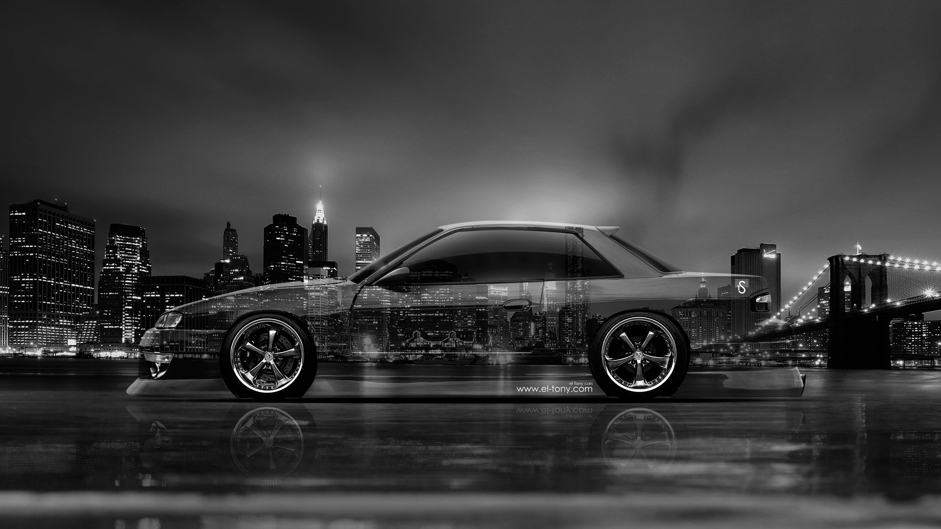 Nissan Silvia S13 JDM Side Crystal City Car 2014