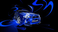 Nissan-Skyline-GTR-R34-Fantasy-Plastic-Abstract-Car-2014-Blue-Neon-Colors-design-by-Tony-Kokhan-[www.el-tony.com]