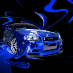 Nissan Skyline GTR R34 Fantasy Plastic Abstract Car 2014
