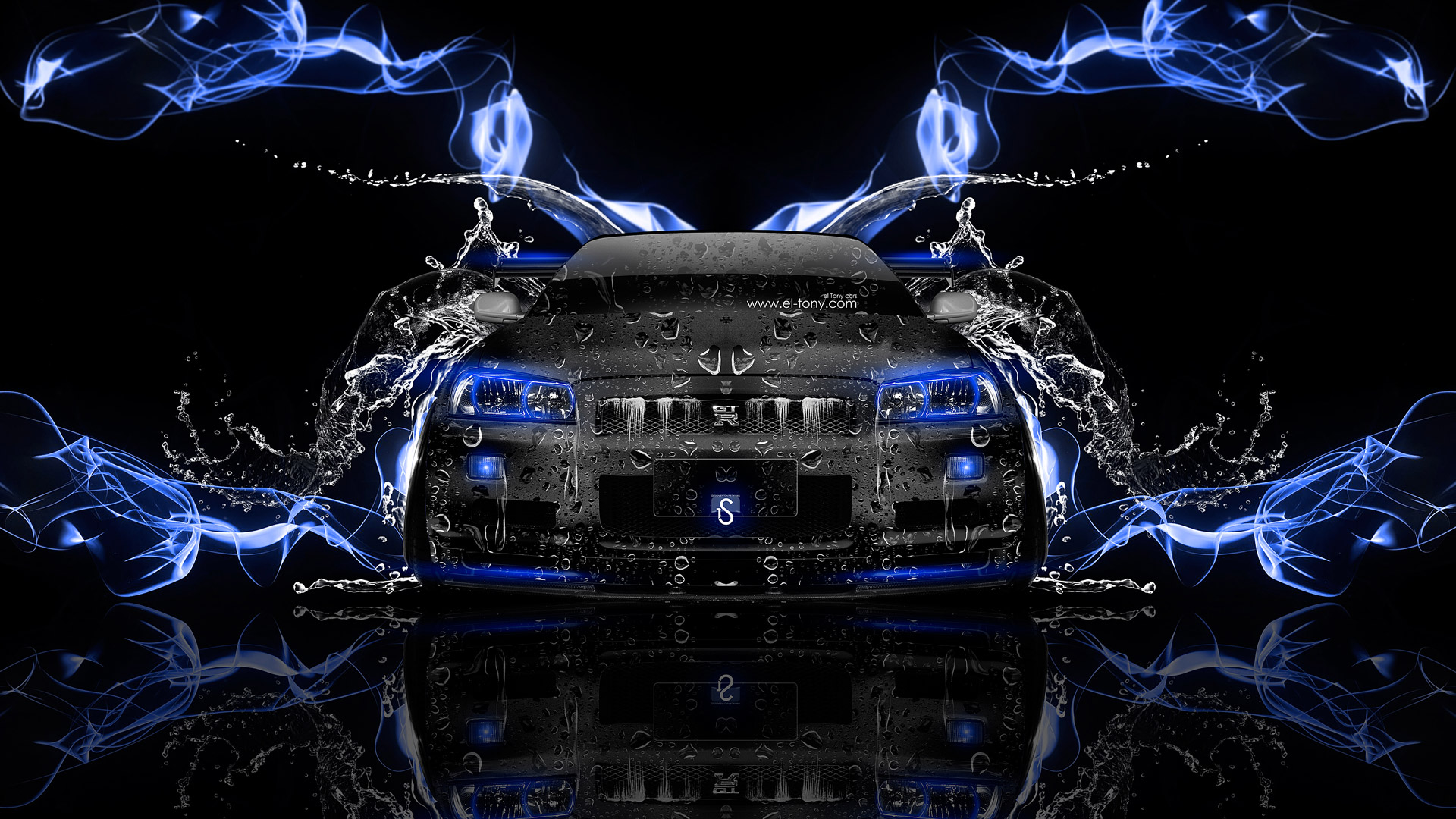 Great Nissan Skyline GTR R34 JDM Front Water Energy