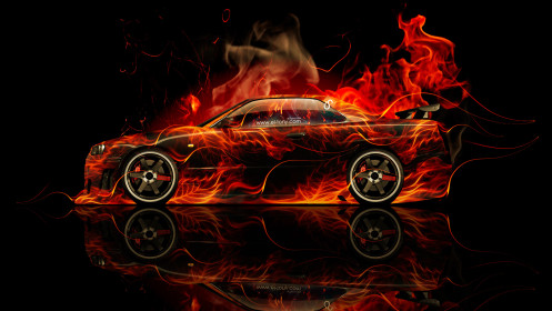 Nissan-Skyline-GTR-R34-JDM-Side-Fire-Abstract-Car-2014-HD-Wallpapers-design-by-Tony-Kokhan-[www.el-tony.com]