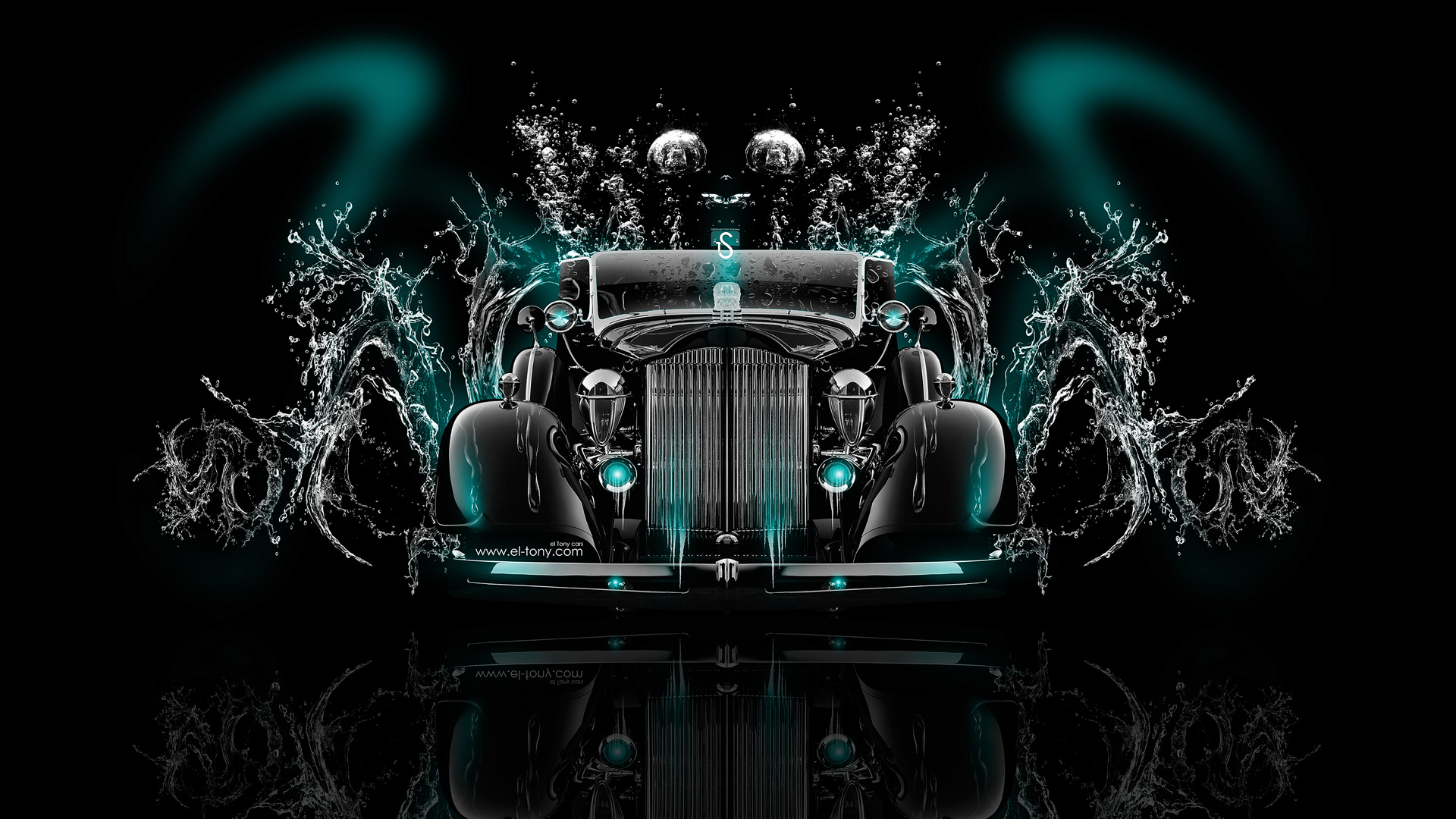 Packard-Eight-Phaeton-1934-Retro-Front-Water-Car-2014-Azure-Neon-HD