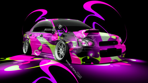 Subaru-Impreza-WRX-STI-JDM-Super-Abstract-Car-2014-Multicolors-HD-Wallpapers-design-by-Tony-Kokhan-[www.el-tony.com]