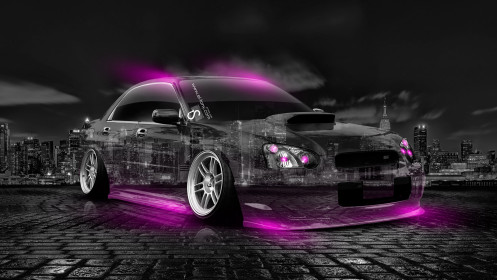 Subaru-WRX-STI-JDM-Crystal-City-Car-2014-Pink-Neon-HD-Wallpapers-design-by-Tony-Kokhan-[www.el-tony.com]