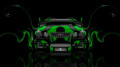 Toyota-Aristo-JDM-Tuning-Front-Green-Plastic-Car-2014-HD-Wallpapers-design-by-Tony-Kokhan-[www.el-tony.com]
