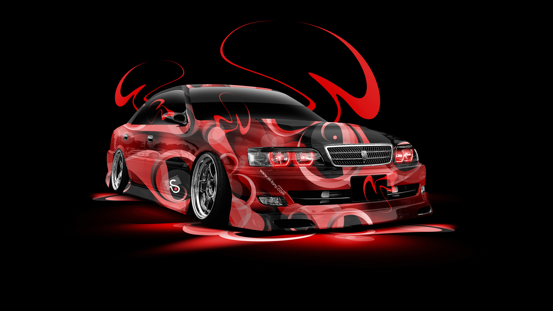 Neon Car Wallpaper: Toyota Chaser JZX100 Super Abstract Car 2014