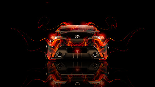 Toyota-FT-86-Back-Fire-Abstract-Car-2014-HD-Wallpapers-design-by-Tony-Kokhan-[www.el-tony.com]