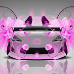 Toyota GT-86 Tuning Flowers Car 2014