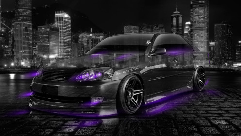 Toyota-Mark2-JZX110-JDM-Crystal-City-Car-2014-Violet-Neon-HD-Wallpapers-desing-by-Tony-Kokhan-[www.el-tony.com]