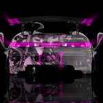 Toyota Mark2 JZX90 JDM Back Girl Aerography Car 2014