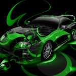 Toyota Supra JDM Super Abstract Car 2014