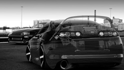 Two-Cars-Toyota-Supra-JDM-Crystal-City-2014-HD-Wallpapers-design-by-Tony-Kokhan-[www.el-tony.com]