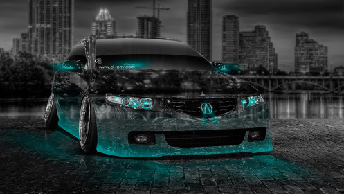 Acura-TSX-Tuning-Crystal-City-Car-2014-Azure-Neon-HD-Wallpapers-design-by-Tony-Kokhan-[www.el-tony.com]