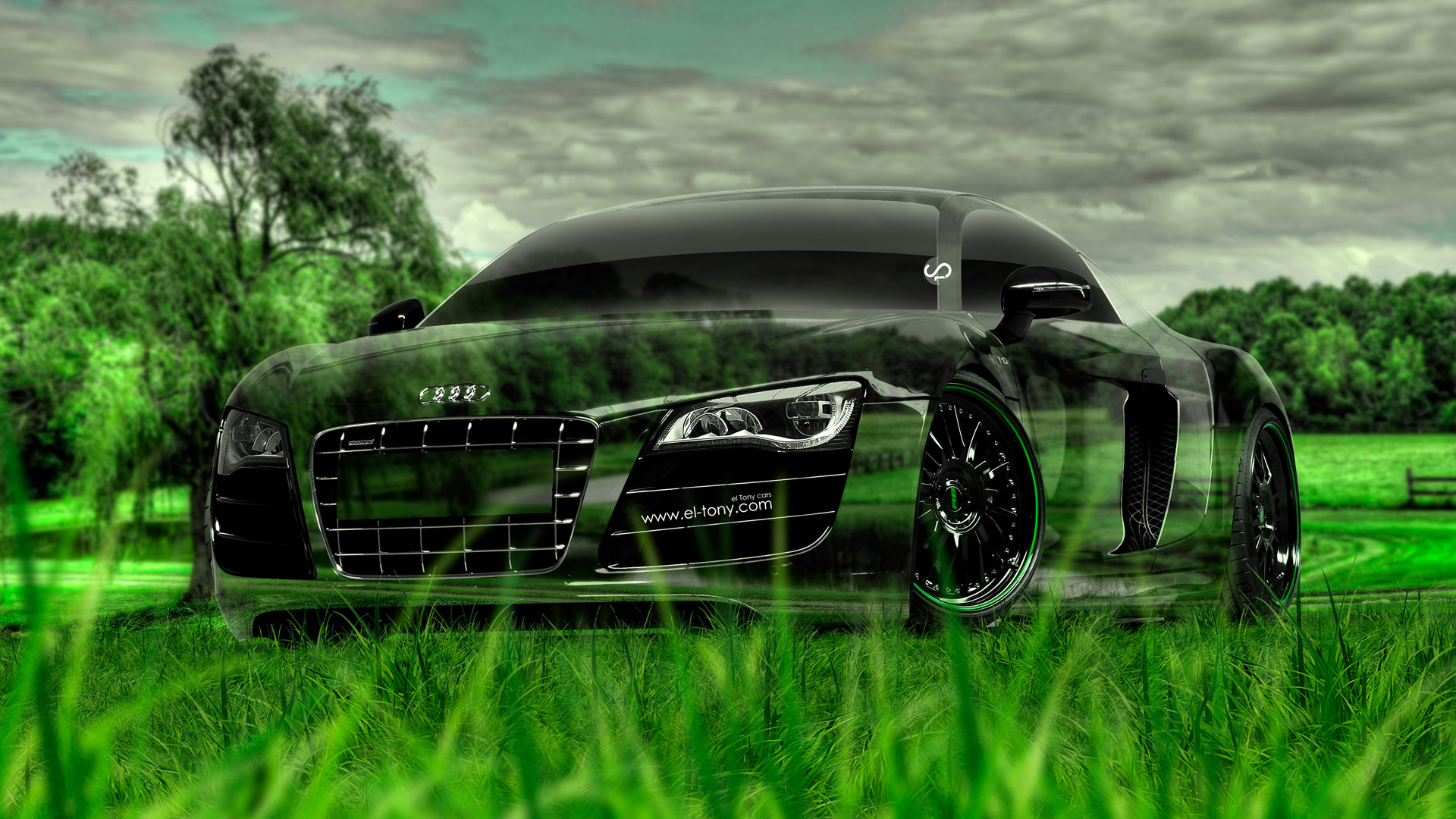 Audi R8 Crystal Nature Car 2014 HD Wallpapers