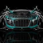 Audi R8 Front Water Car 2014