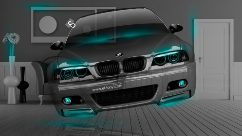 BMW-M3-E46-Fantasy-Crystal-Home-Fly-Car-2014-Azure-Neon-HD-Wallpapers-design-by-Tony-Kokhan-[www.el-tony.com]