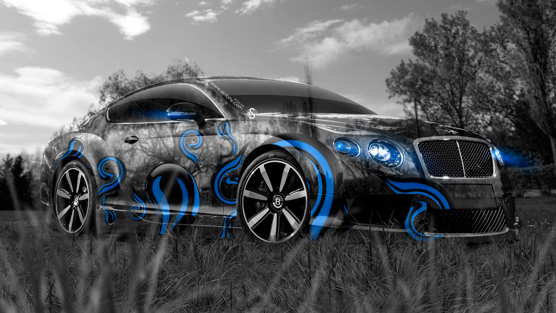 Bentley Continental Gt Crystal Nature Car Art Neon Blue Effects Hd Wallpapers Design By Tony Kokhan   El Tony on 2017 dodge viper