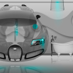 Bugatti Veyron Fantasy Crystal Home Fly Car 2014