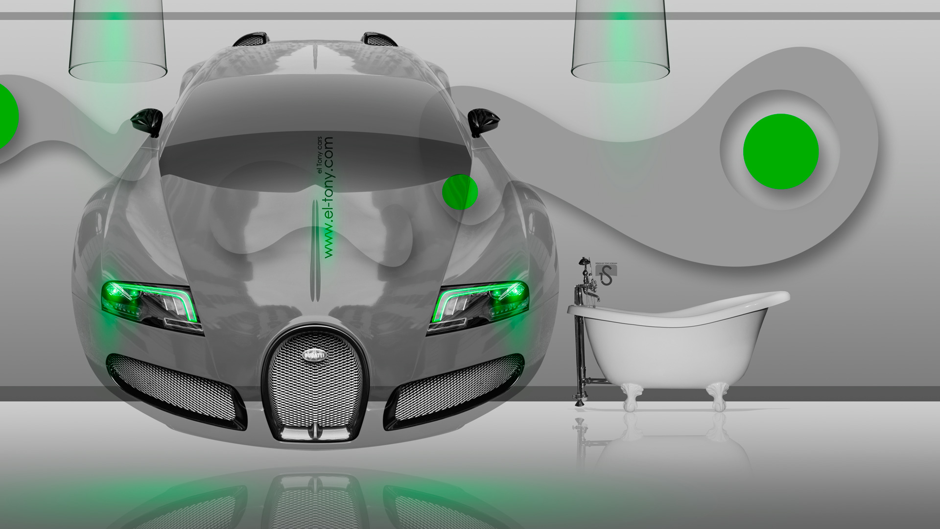 Bugatti Veyron Fantasy Crystal Home Fly Car 2014  ...