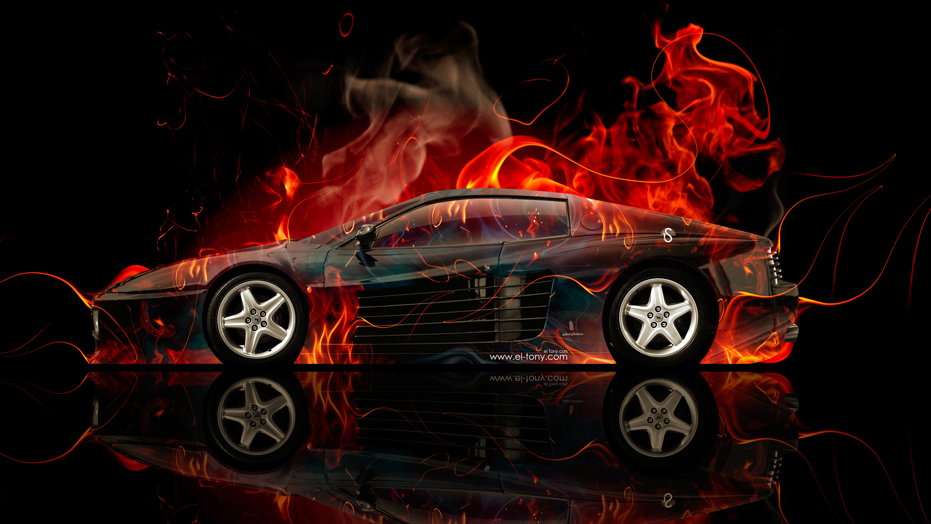 Superieur Ferrari 512 Side Fire Abstract Car 2014 HD