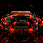 Ford Mustang GT Muscle Fire Abstract Car 2014