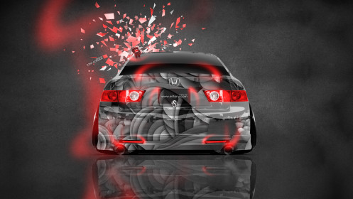 Honda-Accord-JDM-Style-Domo-Kun-Toy-Car-2014-Orange-Neon-HD-Wallpapers-design-by-Tony-Kokhan-[www.el-tony.com]