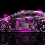 Honda Civic Type-R Side Anime Aerography Car 2014