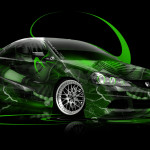 Honda Integra JDM Anime Aerography Car 2014