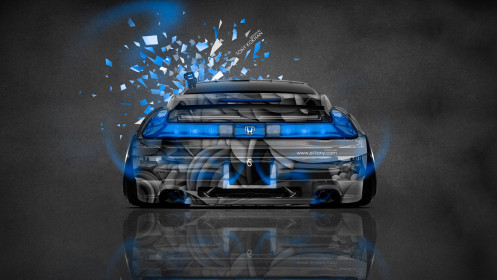 Honda-NSX-Back-JDM-Style-Domo-Kun-Toy-Car-2014-Blue-Neon-HD-Wallpapers-design-by-Tony-Kokhan-[www.el-tony.com]