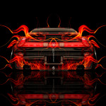 Honda NSX JDM Back Fire Abstract Car 2014