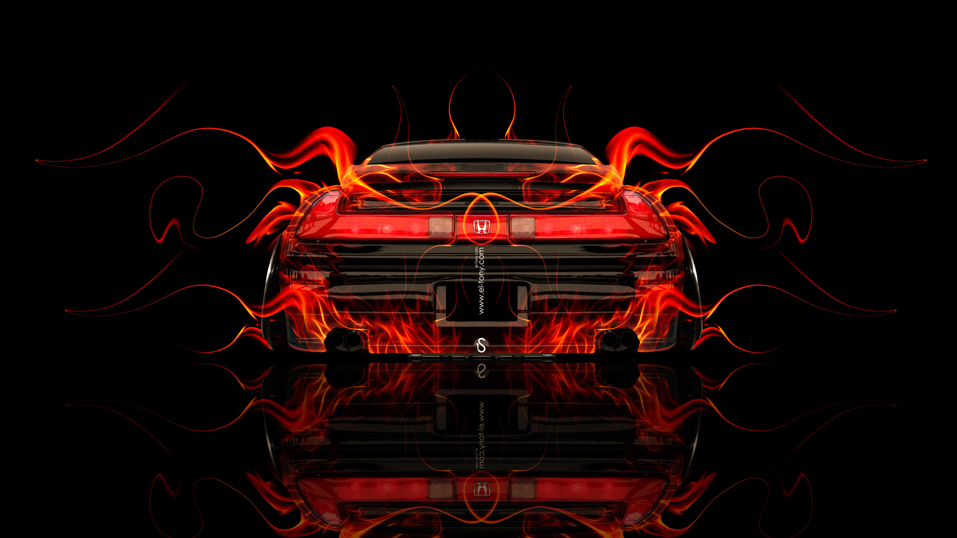 Genial Honda NSX JDM Back Fire Abstract Car 2014