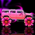 Hummer H2 Fantasy Neon Flowers Car 2014