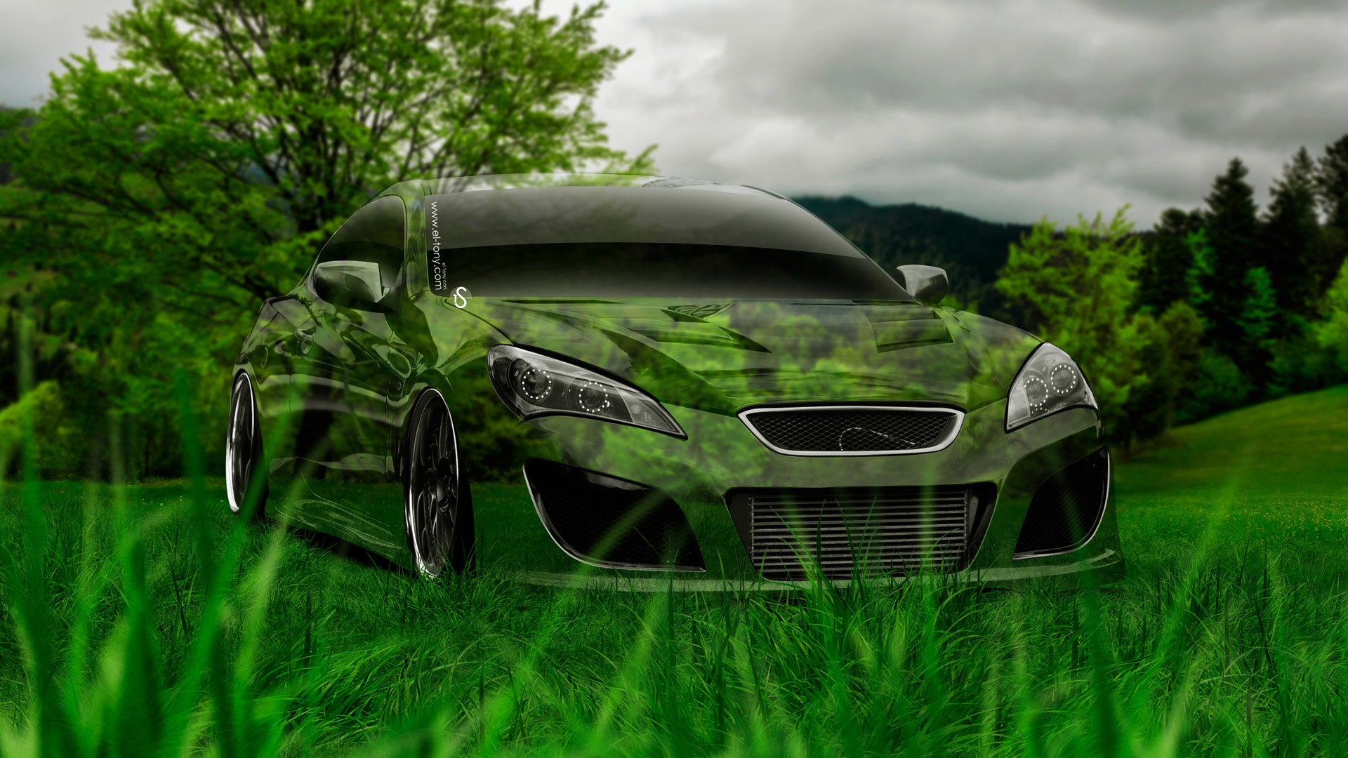 Hyundai-Genesis-Coupe-Tuning-Crystal-Nature-Car-2014-HD-Wallpapers-design-by-Tony-Kokhan-[www.el-tony.com]