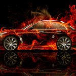 Infiniti FX Side Fire Abstract Car 2014