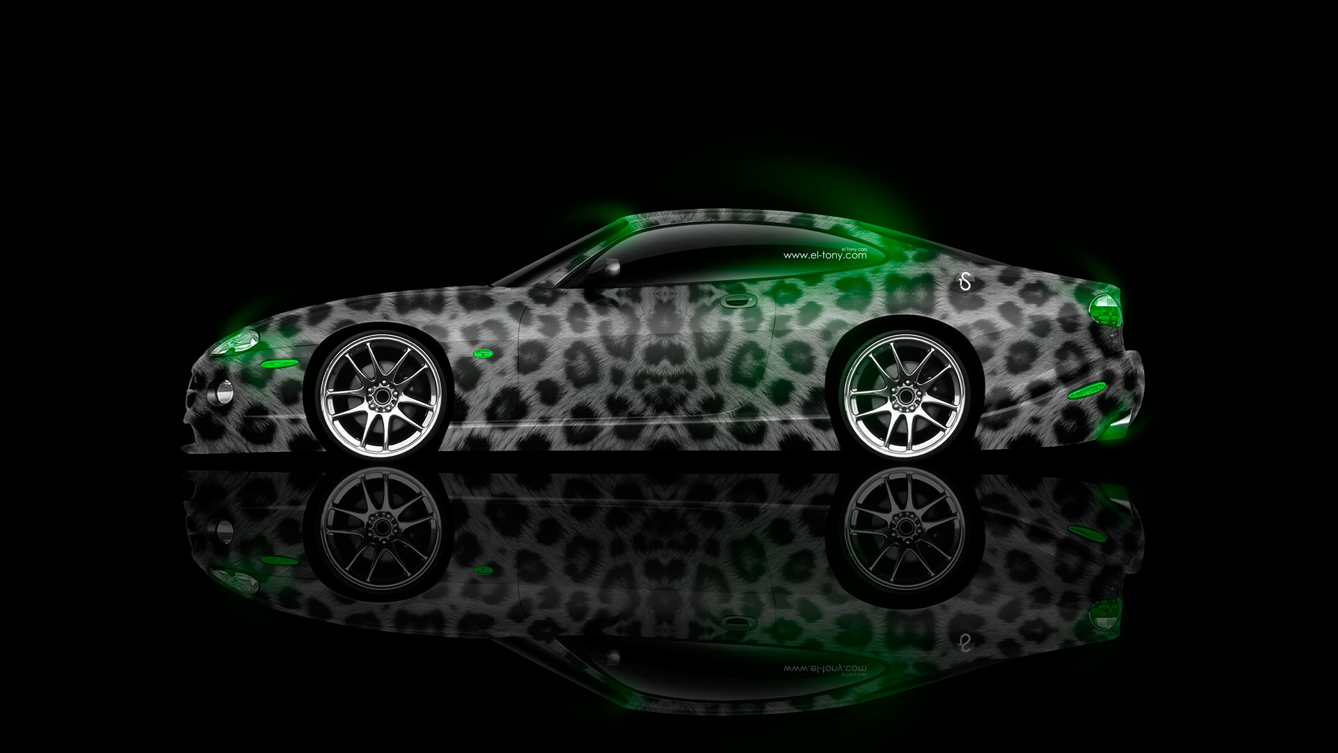 Charmant ... Jaguar XK8 Coupe Side Animal Aerography Car 2014