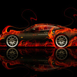 Jaguar XK8 Side Fire Abstract Car 2014