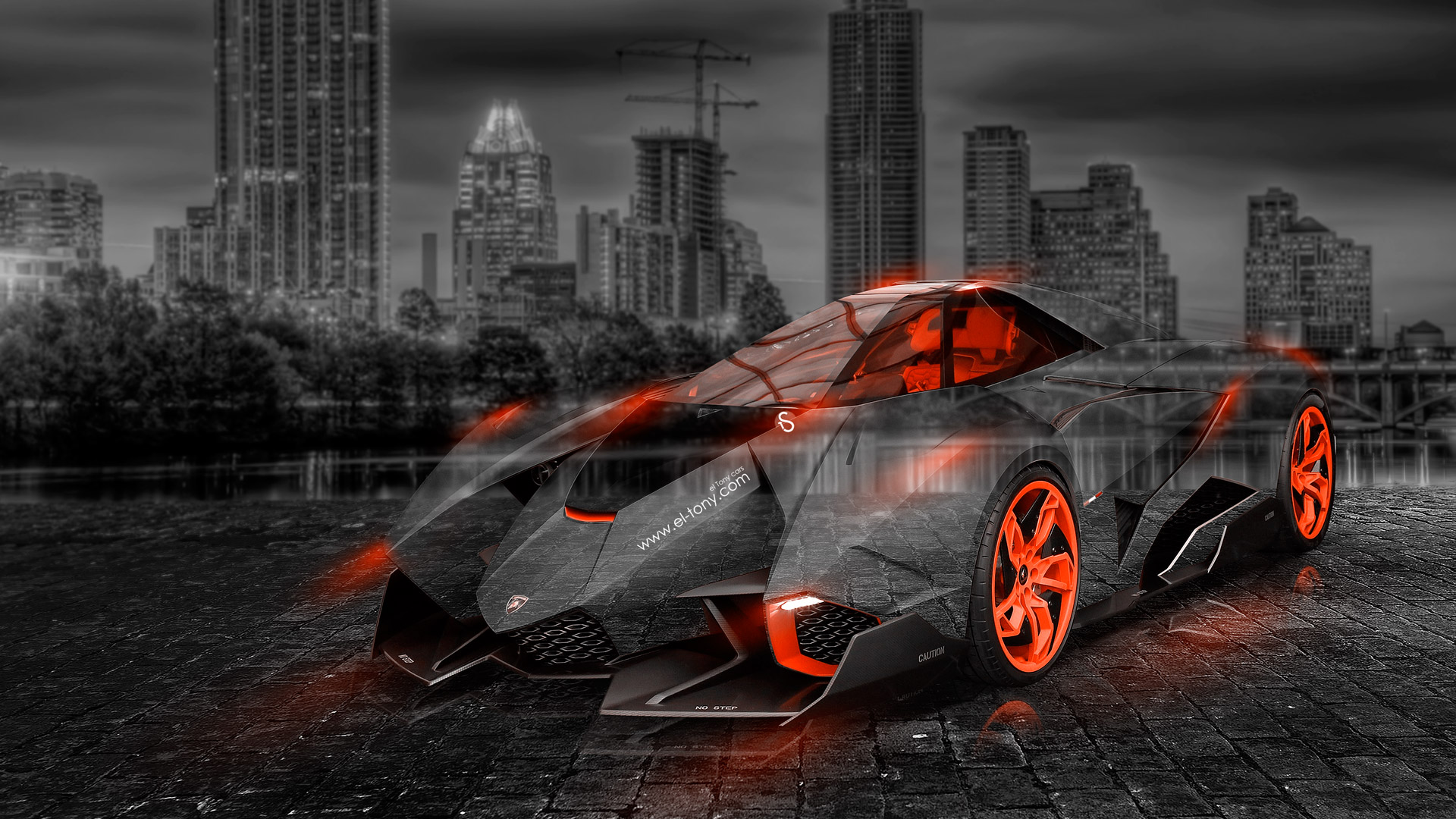 Lamborghini Egoista Crystal City Car 2014 El Tony