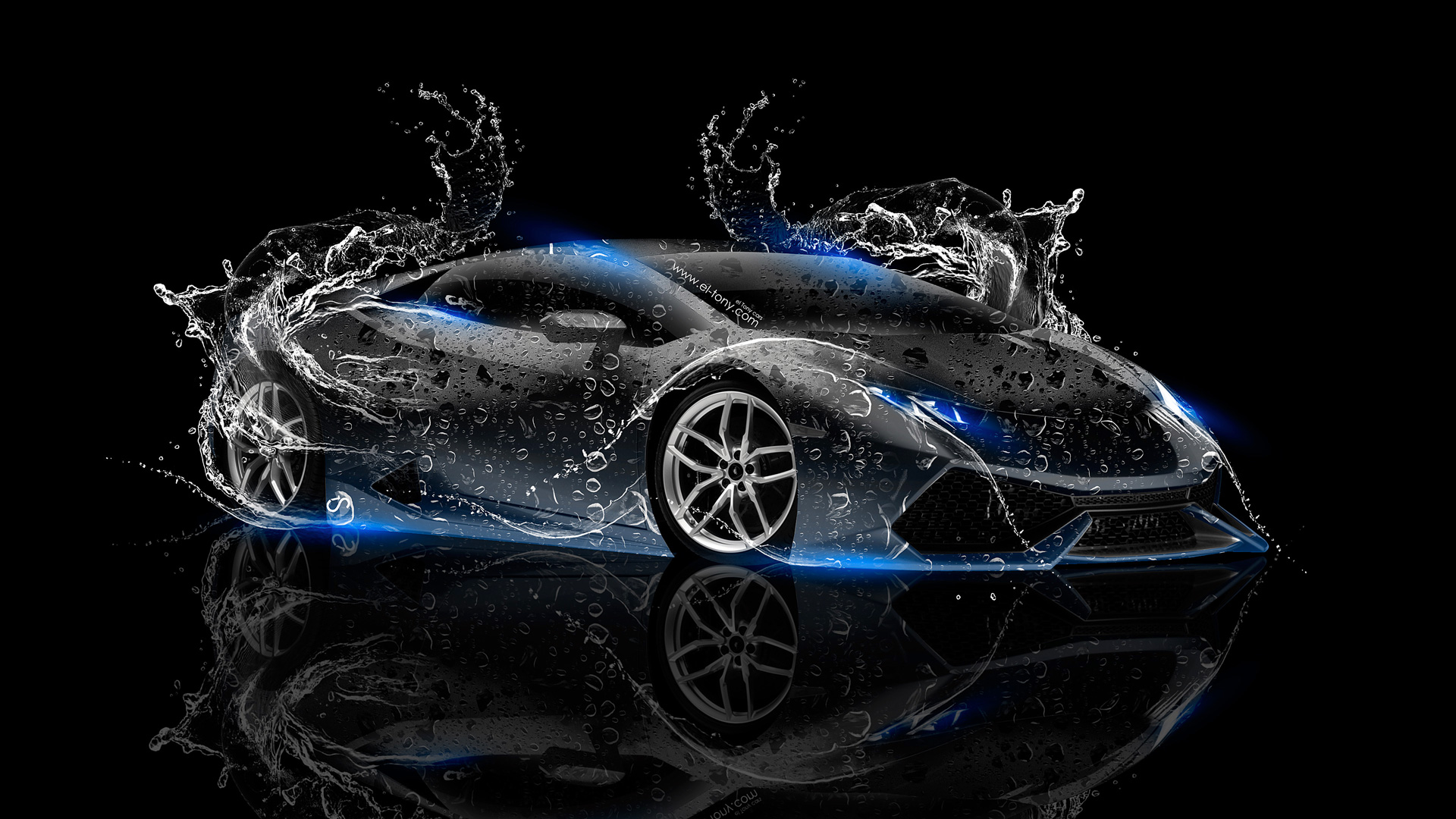 Beau ... Lamborghini Huracan Super Water Car 2014 Blue Neon  ...