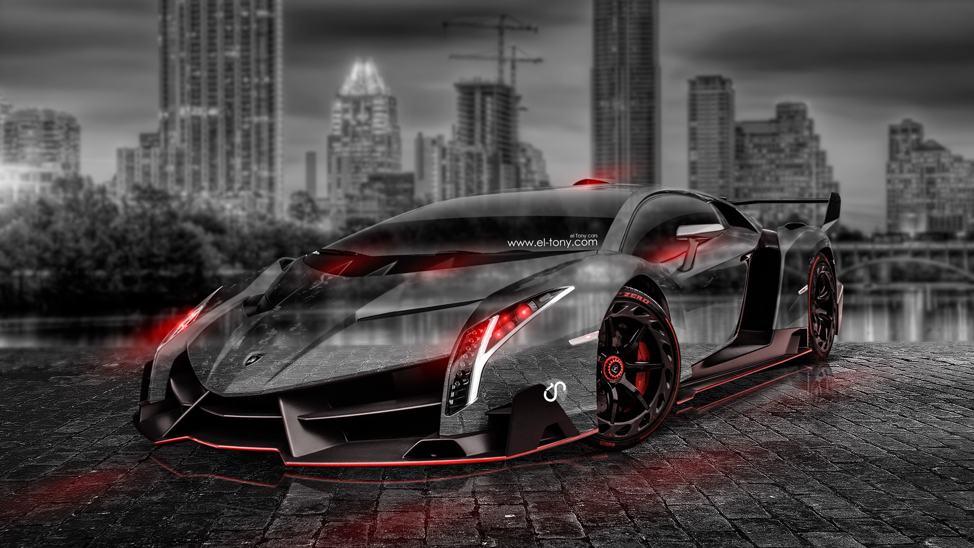 Merveilleux ... Lamborghini Veneno Crystal City Car 2014 Photoshop Art  ...