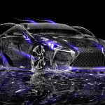 Lexus LF-LC Water Neon Car 2014