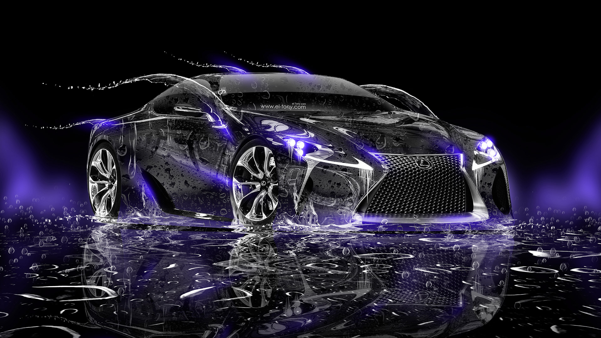 Lexus LF LC Water Car 2014 HD Wallpapers